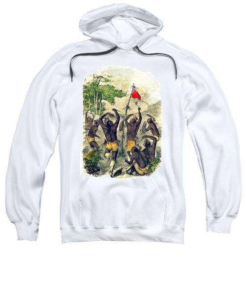 Native American Indian War Dance Sweatshirt