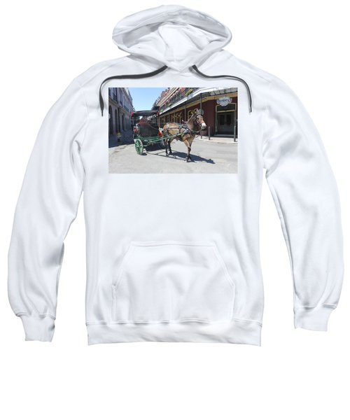 Carriage Ride In New Orleans 21 Sweatshirt