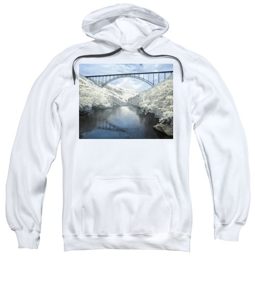 New River Gorge Bridge In Infrared Sweatshirt