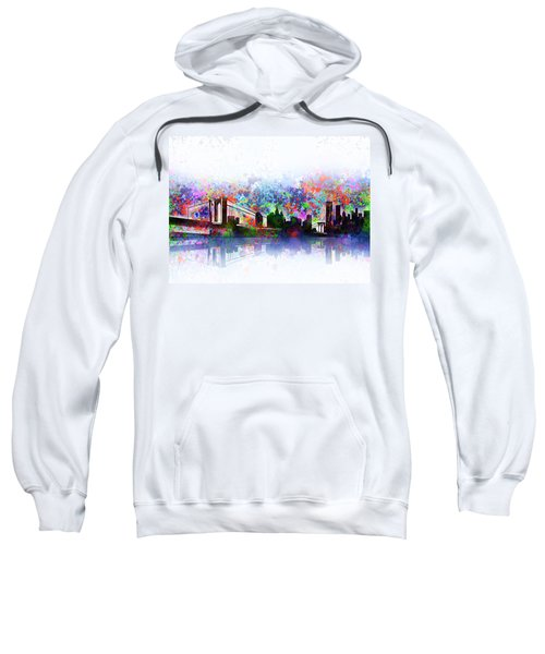 New York Skyline Splats 2 Sweatshirt