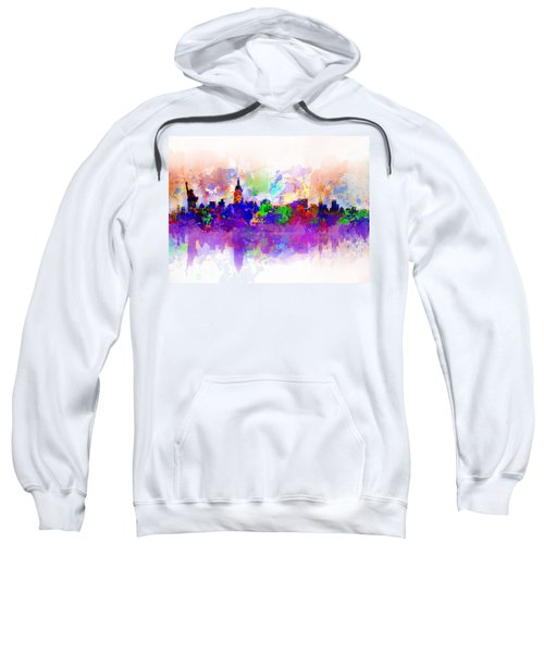 New York Skyline Splats 3 Sweatshirt