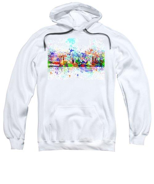 New York Skyline Splats Sweatshirt