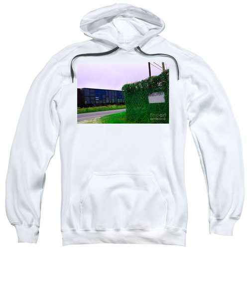 Sweatshirt featuring the digital art No Delivery by Kim Pate