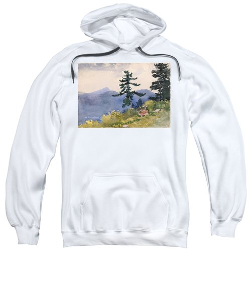 Sweatshirt featuring the painting North Woods Club by Winslow Homer