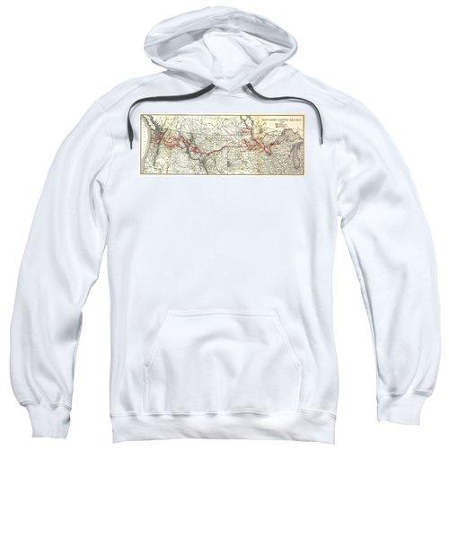Northern Pacific Railway Map  1900 Sweatshirt
