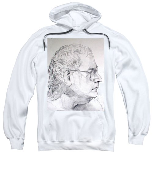 Graphite Portrait Life Drawing Sketch Not So Young Anymore Sweatshirt