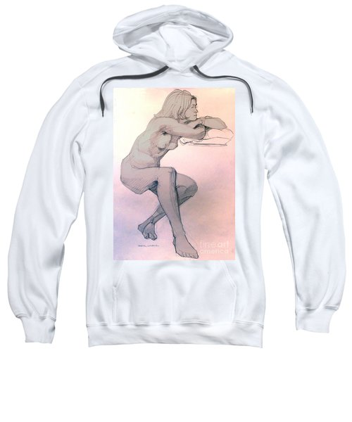 Nude Of A Dreamy Young Woman Sweatshirt