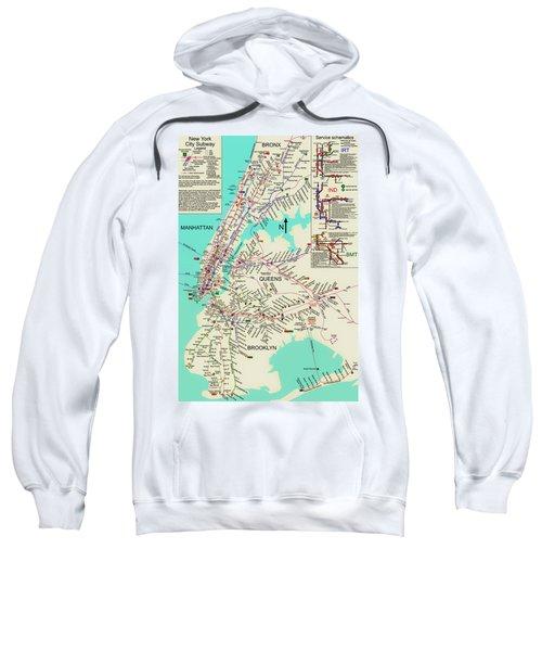 Nyc Subway Map Sweatshirt