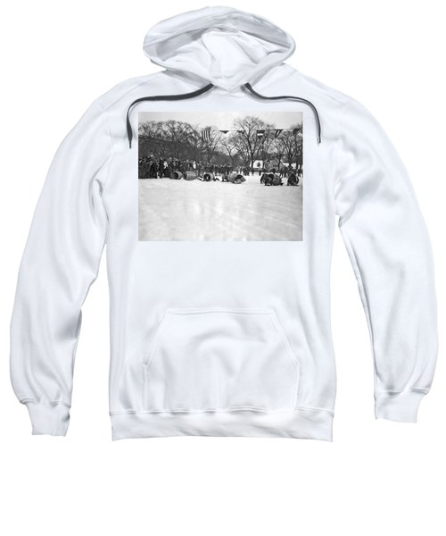 Obstacle Ice Skating Race In Chicago Sweatshirt