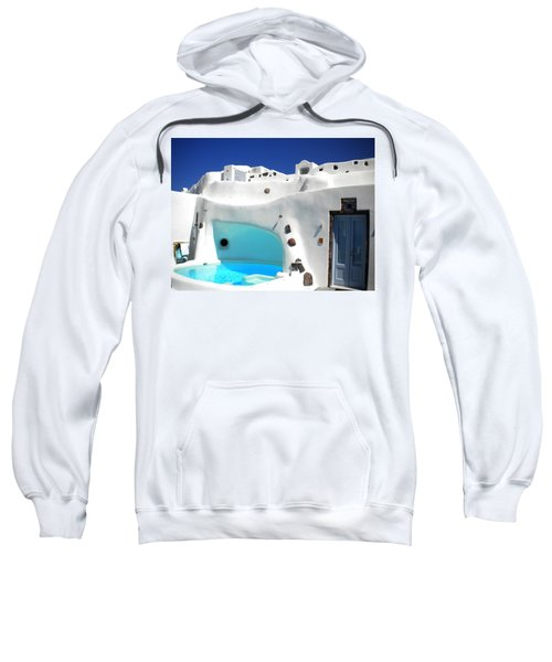 Oia Santorini  With Direct View To The Oceon Greece Sweatshirt