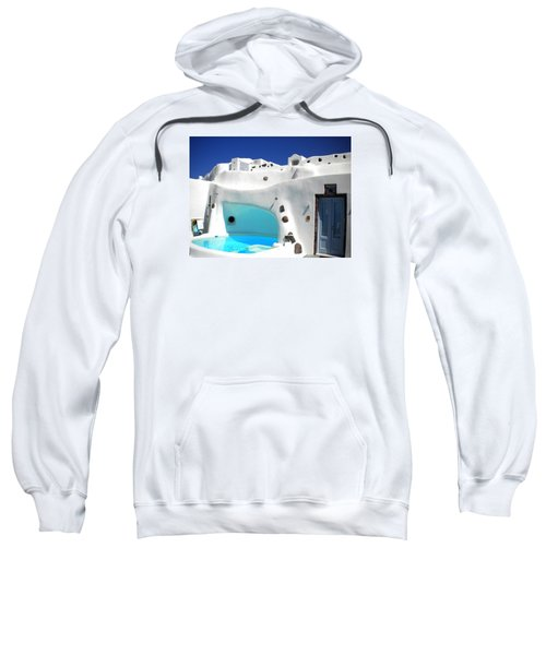 Oia Santorini  With Direct View To The Oceon Greece Sweatshirt