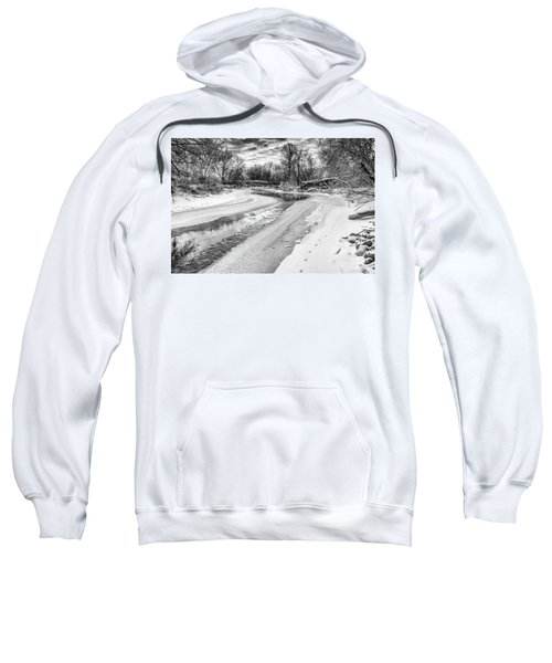 On The Riverbank Bw Sweatshirt