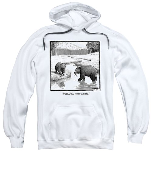 One Bear Speaks To Another As They Catch Fish Sweatshirt