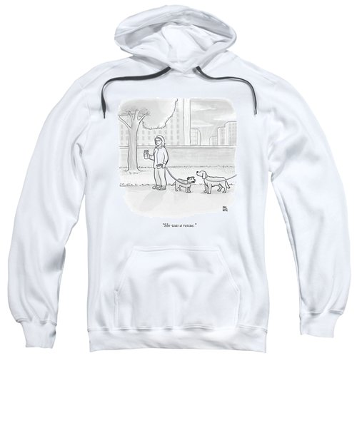 One Dog Talks To Another Sweatshirt by Paul Noth