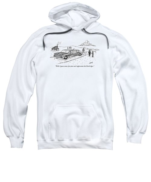 One Farming Peasant Stands Next To And Speaks Sweatshirt