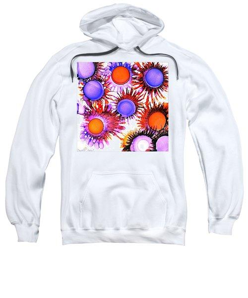 Orange And Purple Alcohol Inks Abstract Sweatshirt