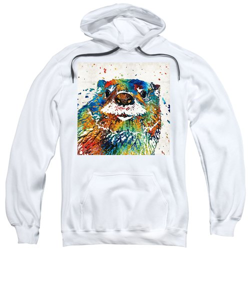 Otter Art - Ottertude - By Sharon Cummings Sweatshirt by Sharon Cummings