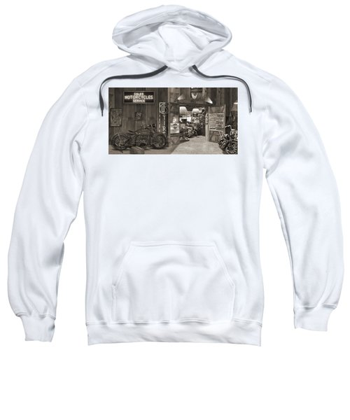 Outside The Old Motorcycle Shop - Spia Sweatshirt