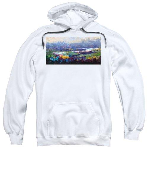 Overlook Abstract Landscape Sweatshirt