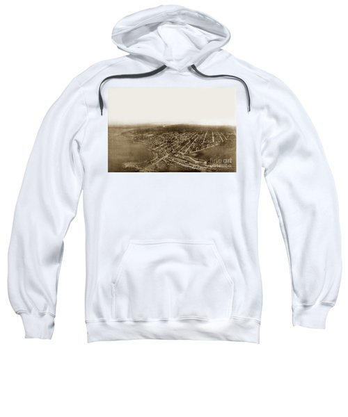 Pacific Grove 1200 From Feet Above Lovers Point And Monterey Bay 1906 Sweatshirt