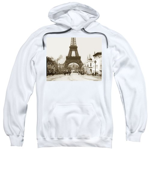 Paris Exposition Eiffel Tower Paris France 1900  Historical Photos Sweatshirt