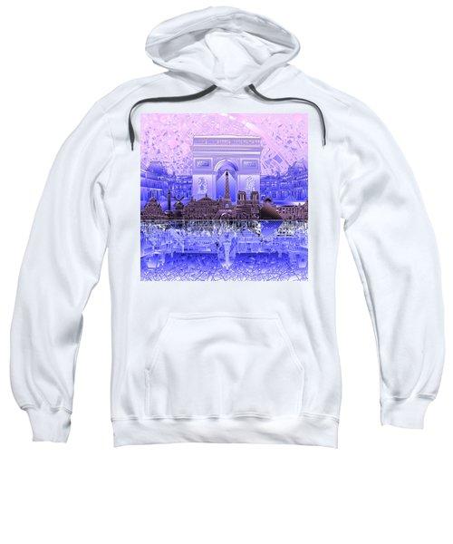 Paris Skyline Landmarks 7 Sweatshirt