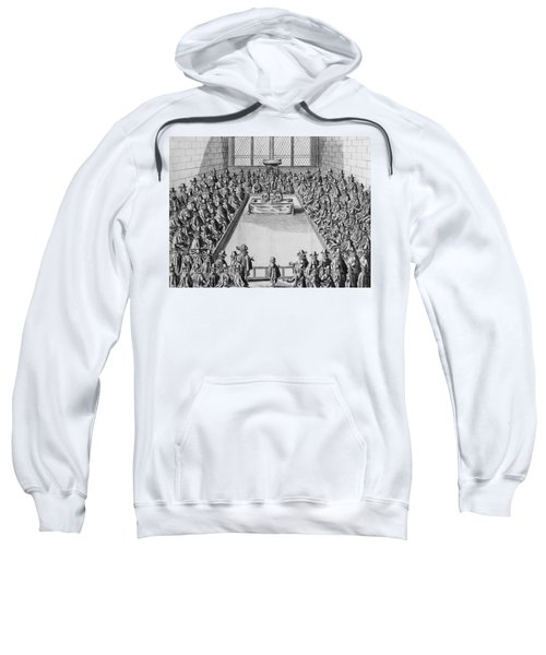 Parliament During The Commonwealth, 1650 Engraving Bw Photo Sweatshirt