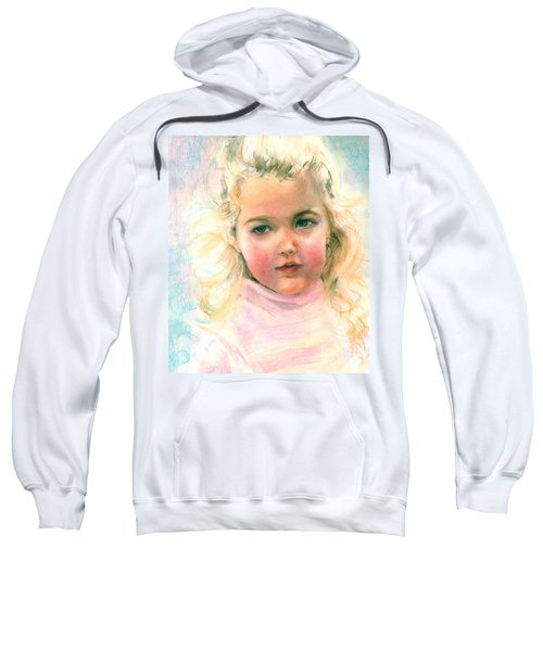 Pastel Portrait Of An Angelic Girl Sweatshirt