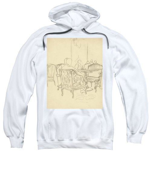 Patterned Chairs At A Restaurant Sweatshirt