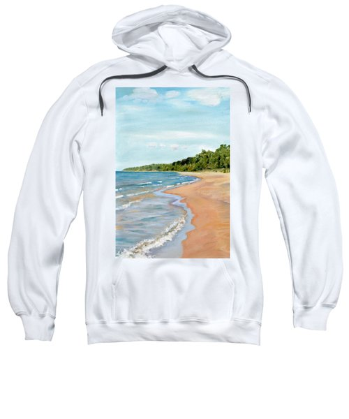 Peaceful Beach At Pier Cove Sweatshirt