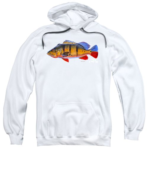 Peacock Bass Sweatshirt by Carey Chen