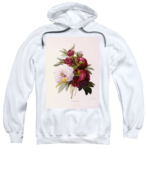 Peonies Engraved By Prevost Sweatshirt
