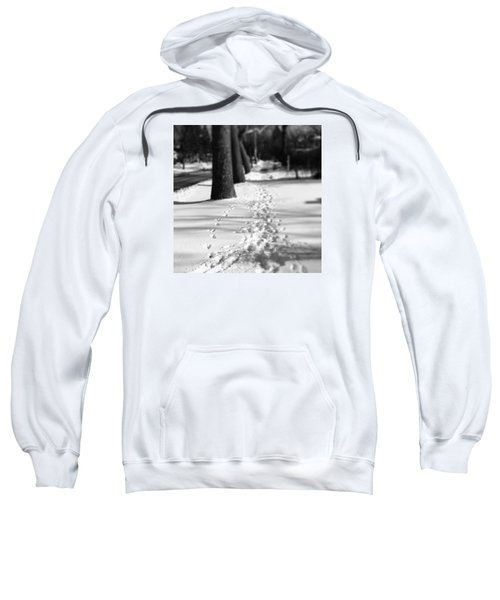 Pet Prints In The Snow Sweatshirt by Frank J Casella