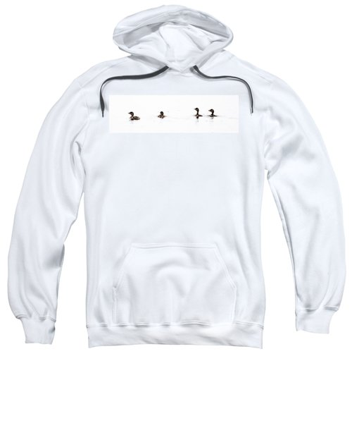 Pied-billed Grebe Babies Sweatshirt