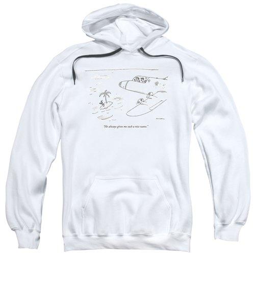 Pilots Seeing A Man Waving Furiously Sweatshirt