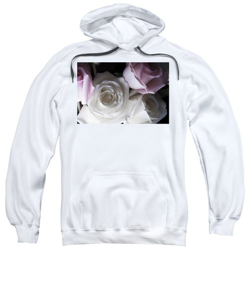 Pink And White Roses Sweatshirt