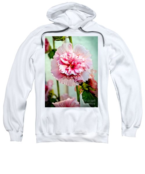 Pink Double Hollyhock Sweatshirt