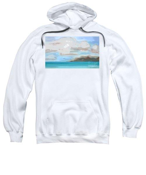 Posterized Landscape Alaska  Sweatshirt