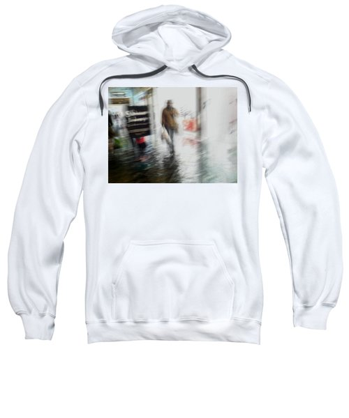 Sweatshirt featuring the photograph Pounding The Pavement by Alex Lapidus