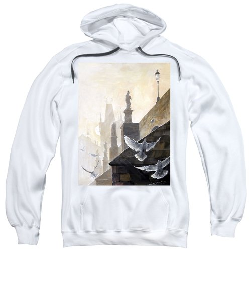 Prague Morning On The Charles Bridge  Sweatshirt