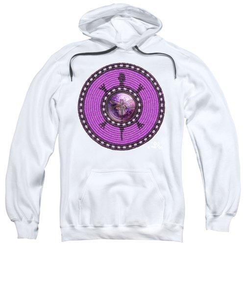 Purple Dragonfly Sweatshirt