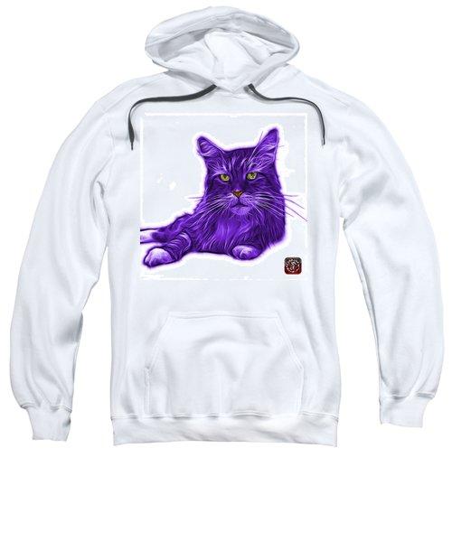 Purple Maine Coon Cat - 3926 - Wb Sweatshirt