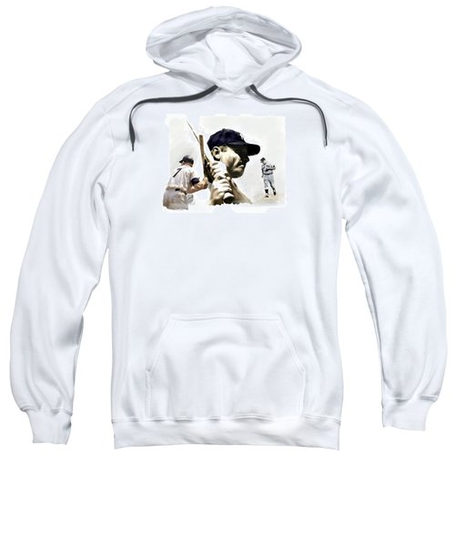 Quality Of Greatness Mickey Mantle Sweatshirt by Iconic Images Art Gallery David Pucciarelli