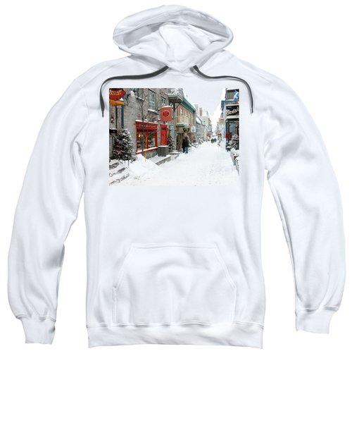 Quebec City In Winter Sweatshirt