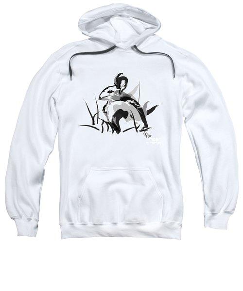 Rabbit Bunny Black White Grey Sweatshirt