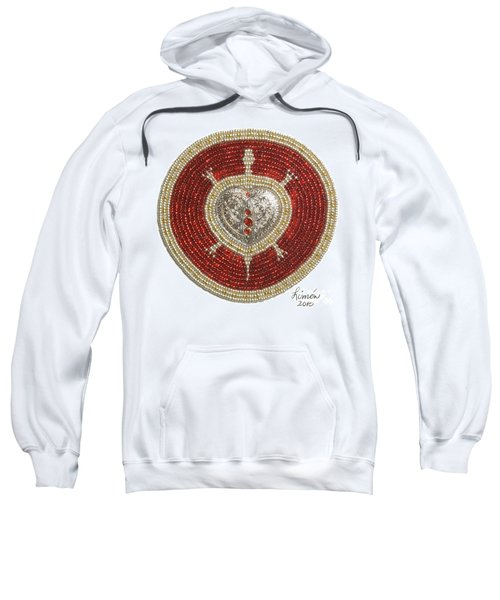 Silver And Gold Heart Turtle Sweatshirt
