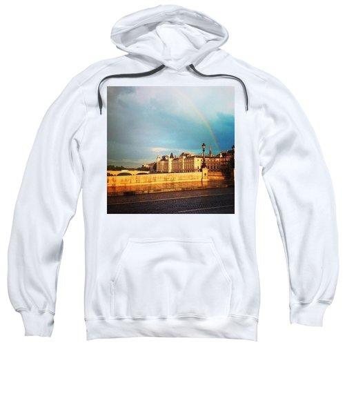 Rainbow Over The Seine. Sweatshirt by Allan Piper