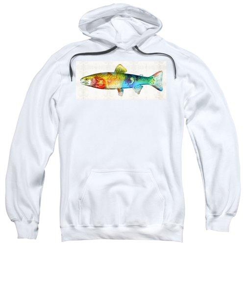 Rainbow Trout Art By Sharon Cummings Sweatshirt