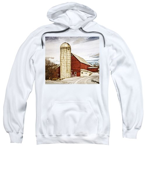 Red Barn And Silo Vermont Sweatshirt