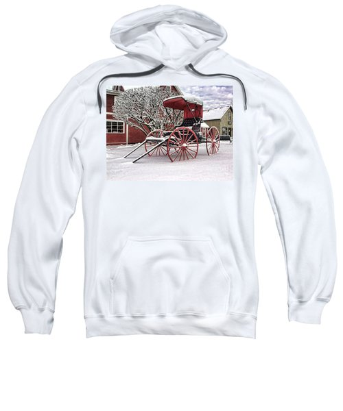 Red Buggy At Olmsted Falls - 1 Sweatshirt